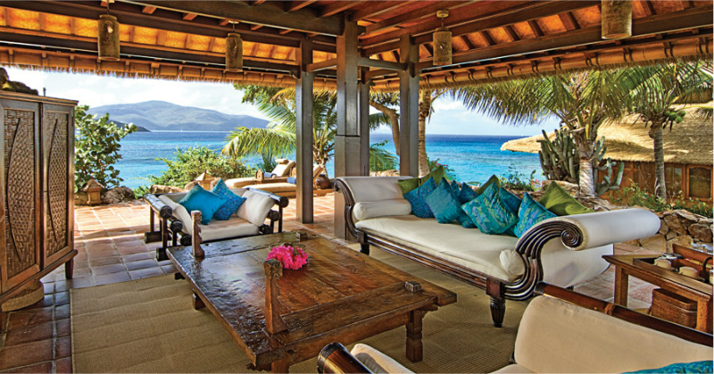 Necker Island Great House-Bali Style luxury rental - British Virgin Islands. 800x419