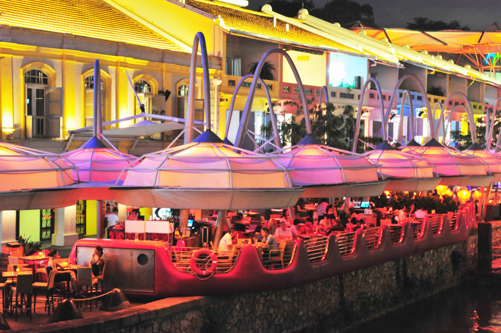 Singapore dining - Clarke Quay. Image shot 2013. Exact date unknown.