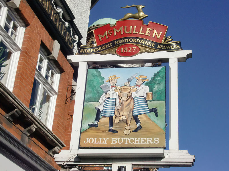 800px-Sign_for_Jolly_Butchers_Public_House,_Baker_Street,_Enfield_-_geograph.org.uk_-_1690636